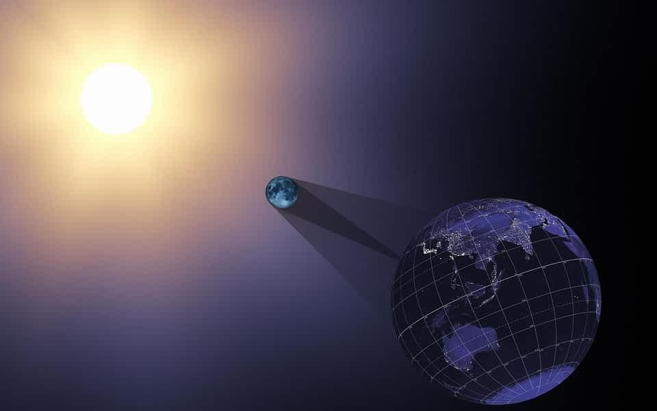 **☀ Солнечное и Лунное затмение   Solar n Lunar Eclipse   Sun-Moon-Earth   июль-август 2018 год ☀**